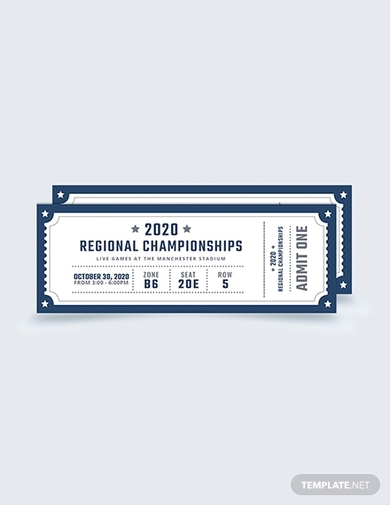 sports admission ticket