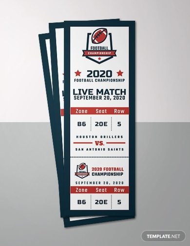 sports event ticket