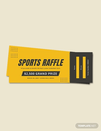 sports raffle ticket1
