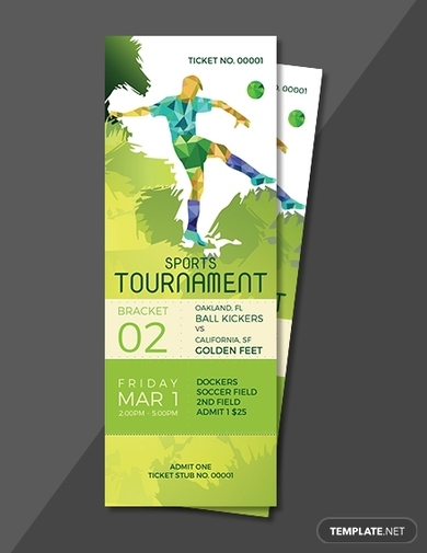 sports tournament ticket