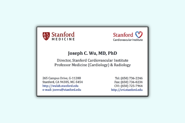 stanford business card