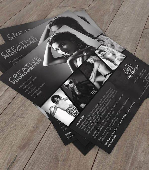 studio photography flyer