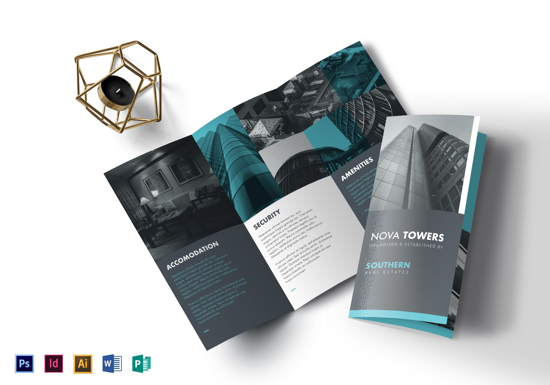 stylish real estate property brochure template