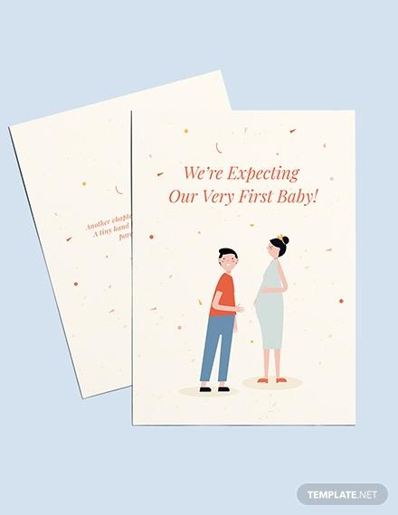 surprise pregnancy announcement card