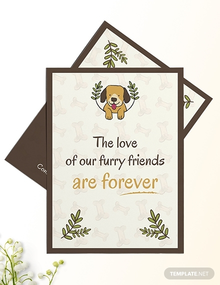sympathy card for loss of dog