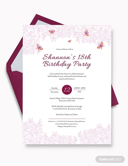 teenage birthday invitation