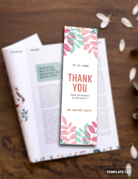 thank you bookmark