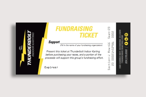 thunderbolt fundraising ticket
