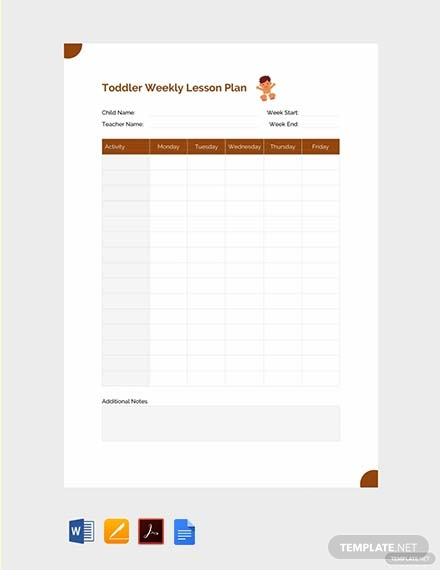 toddler weekly lesson plan