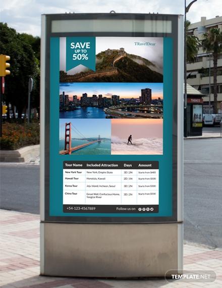 travel deals digital signage