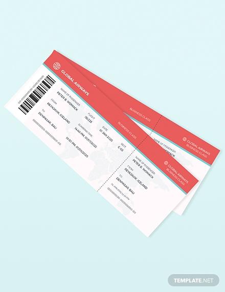 travel ticket invitation