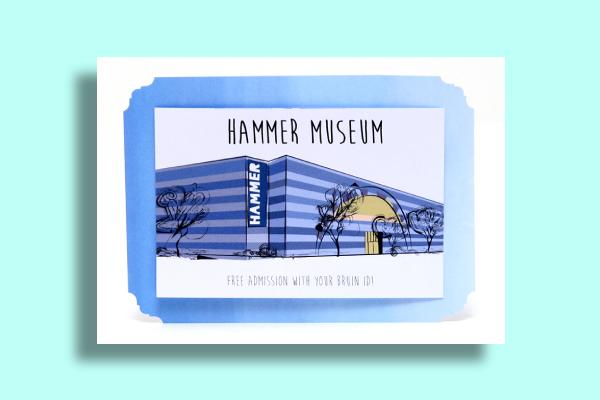 ucla hammer museum postcard