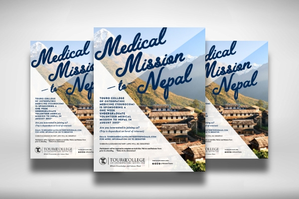 undergraduate volunteer to nepal medical mission poster