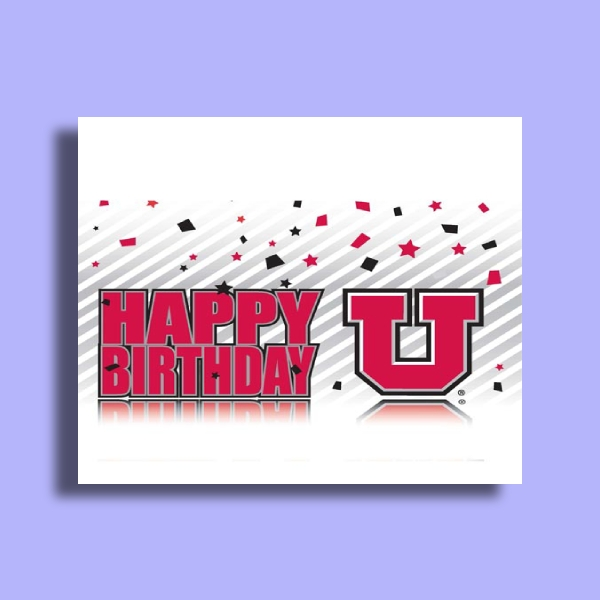 university birthday greeting card