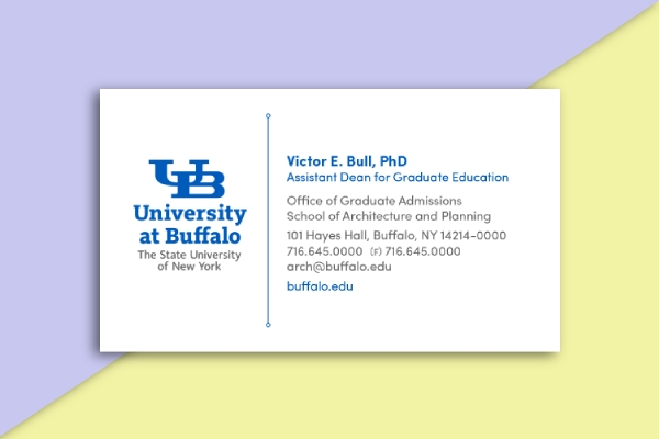 university at buffalo business card