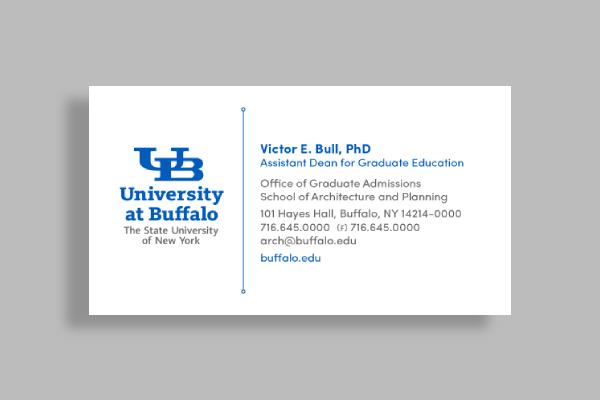 university at buffalo business card1