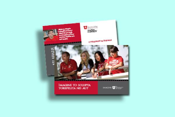 university of utah postcard