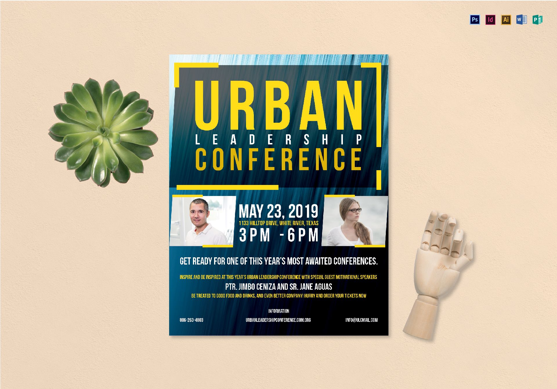 urban conference flyer template