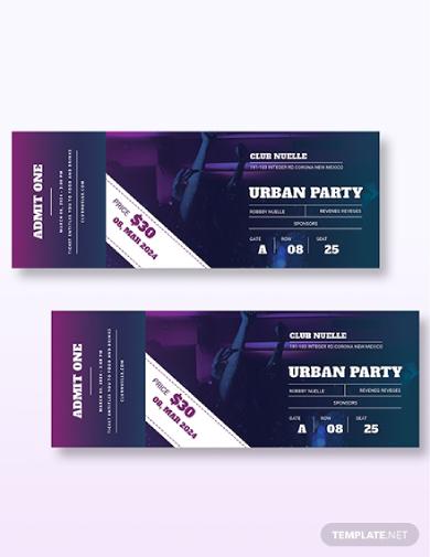 urban party ticket