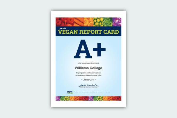 vegan report card