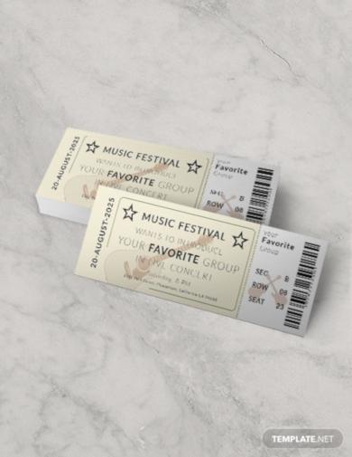 vintage concert ticket