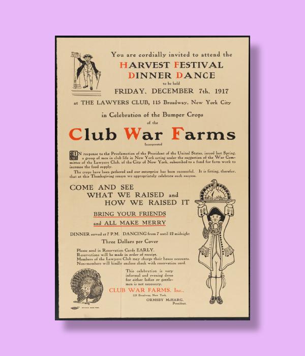 vintage harvest festival dinner dance invitation