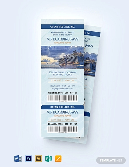 vip pass ticket invitation template