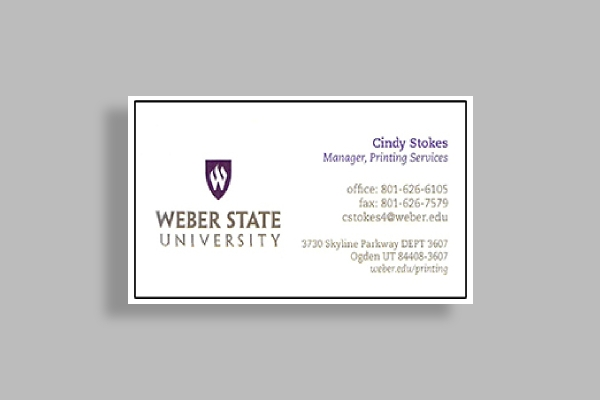 weber state university business card