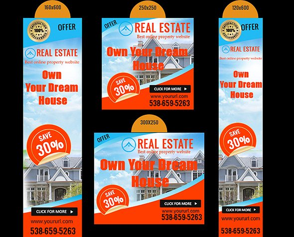 website real estate ad banners