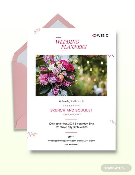 wedding planner invitation