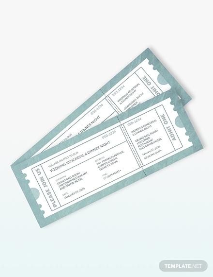 wedding rehearsal dinner invitation ticket