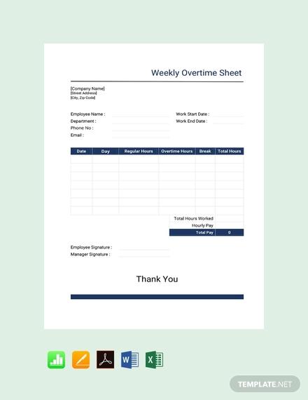 weekly overtime sheet