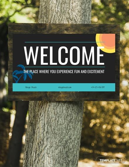 welcome digital signage