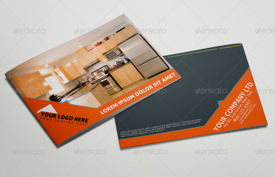 well organized real estate brochure template