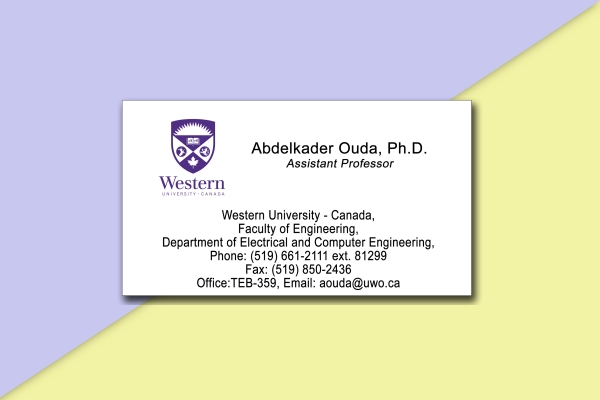 western engineering professor business card