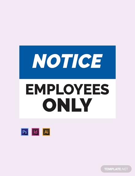 workplace entry sign