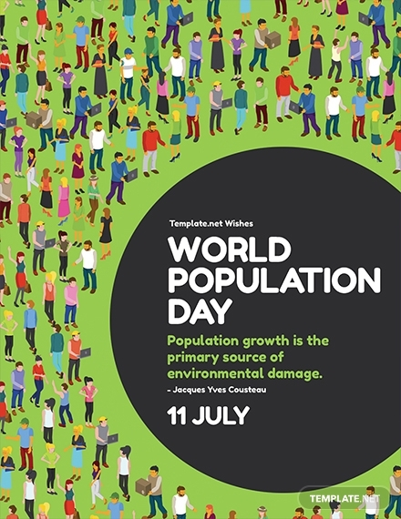 world population day greeting card