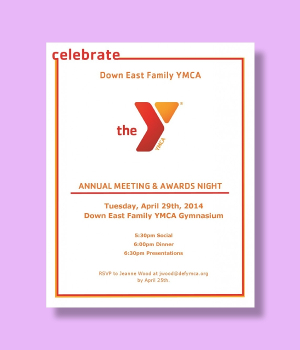 ymca annual meeting and awards night invitation