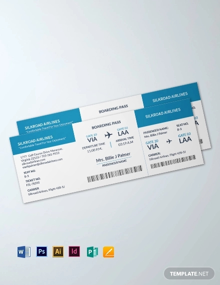 blank airline ticket