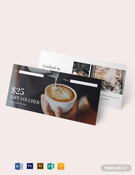 cafe gift voucher template