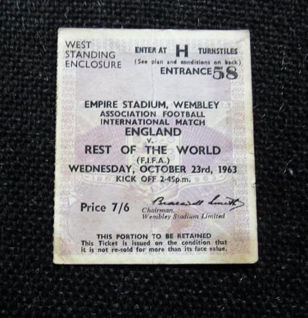 englandvrestoftheworld soccer ticket