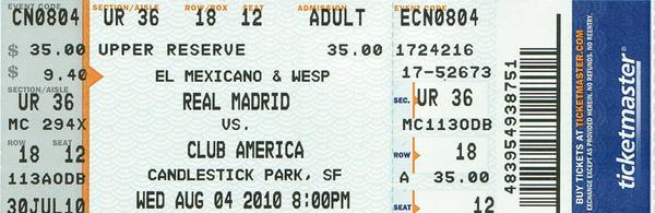 friendly match soccer ticket