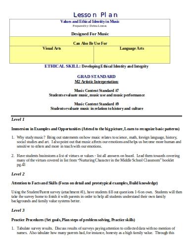 grad standard music plan1