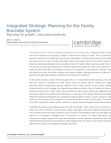 strategic planning for family business1