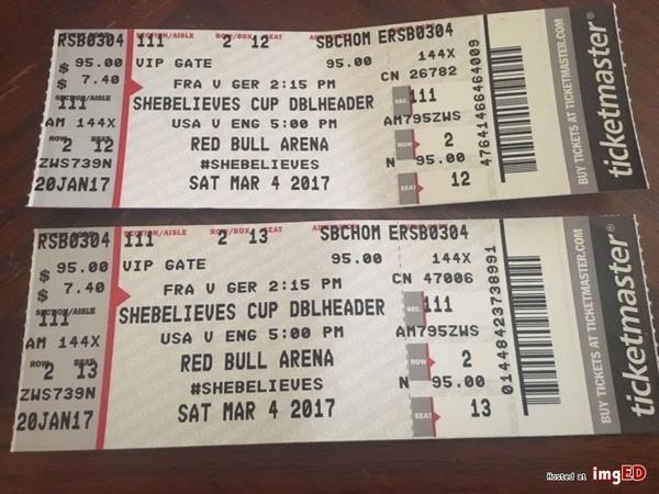 women soccer match ticket