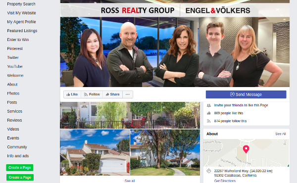 a great listing real estate agent facebook page