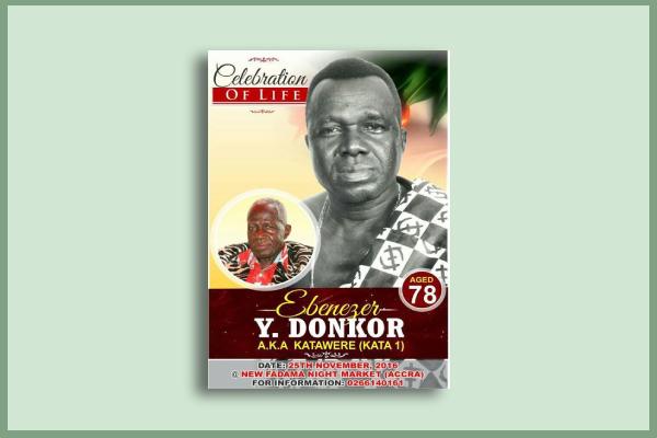 actor funeral flyer