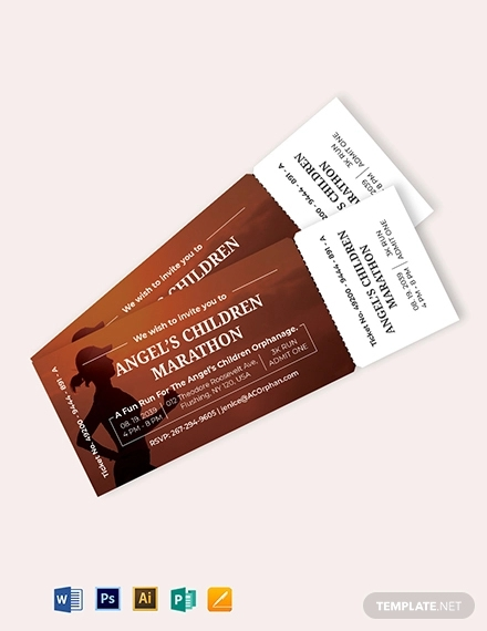 admit one ticket invitation template