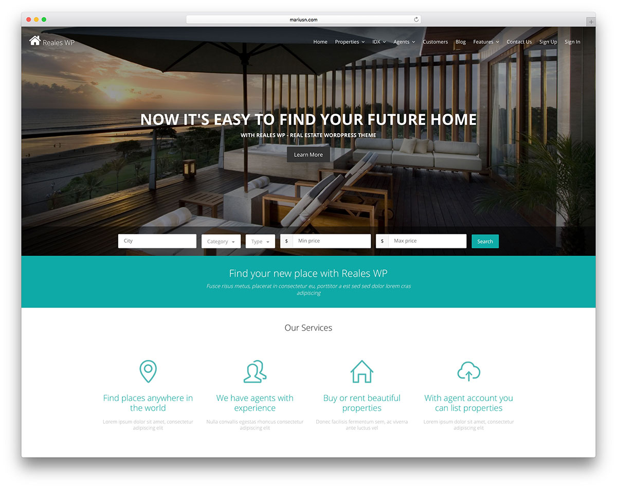 advanced commercial real estate wordpress template1