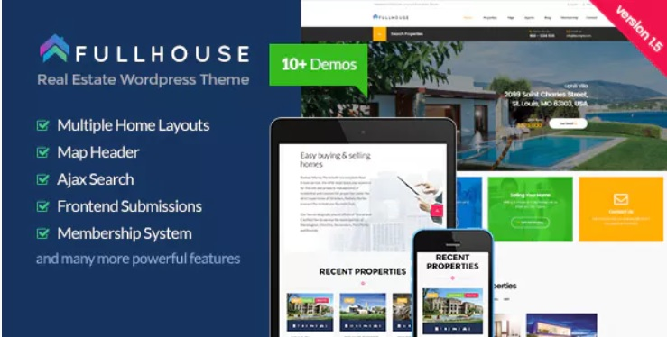 advanced property management wordpress template